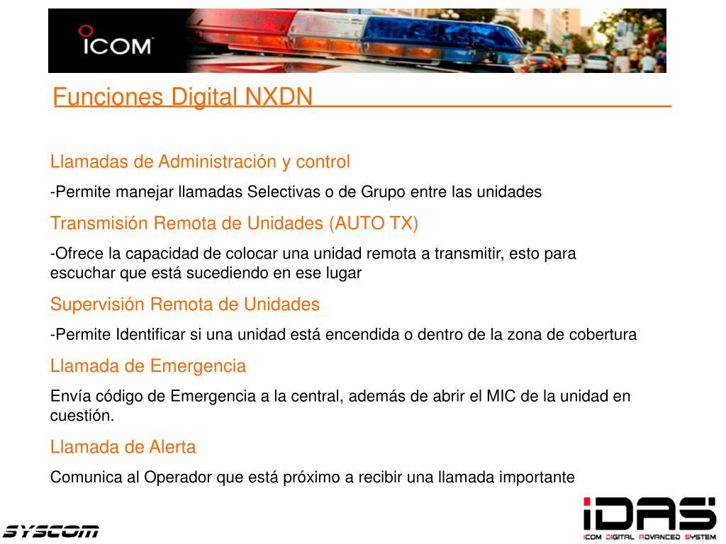 Funciones Digital NXDN
