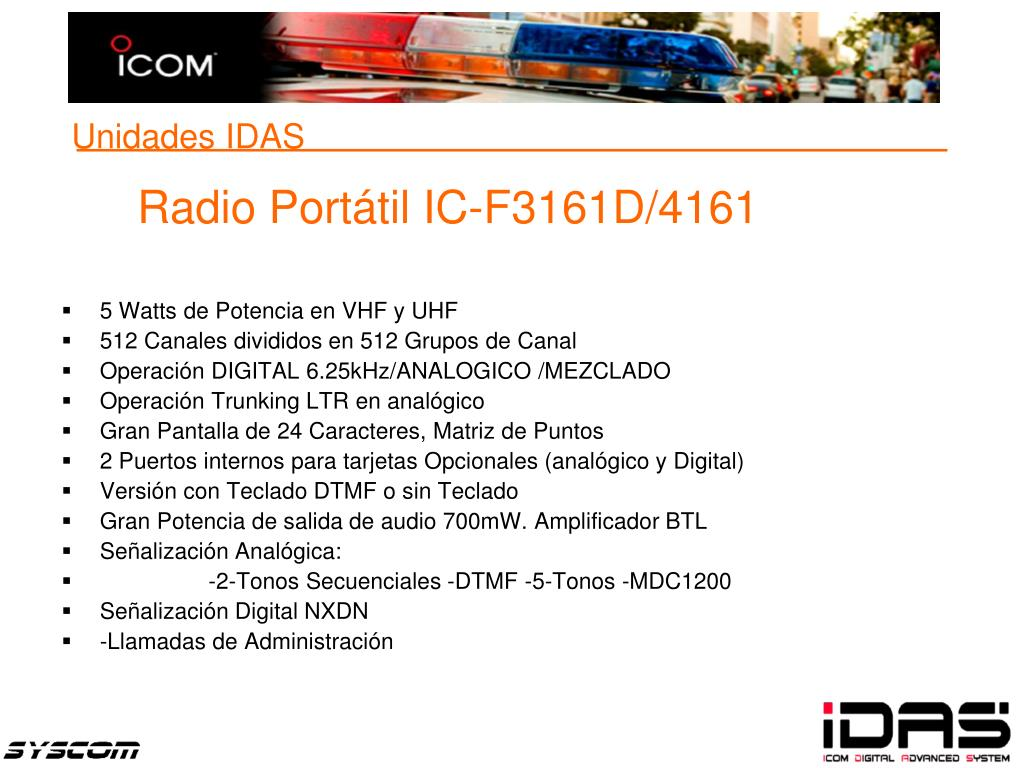 Radio Portátil IC-F3161D/4161