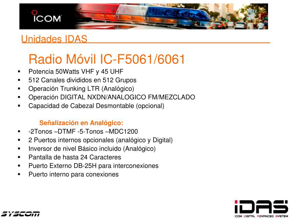 Radio Móvil IC-F5061/6061
