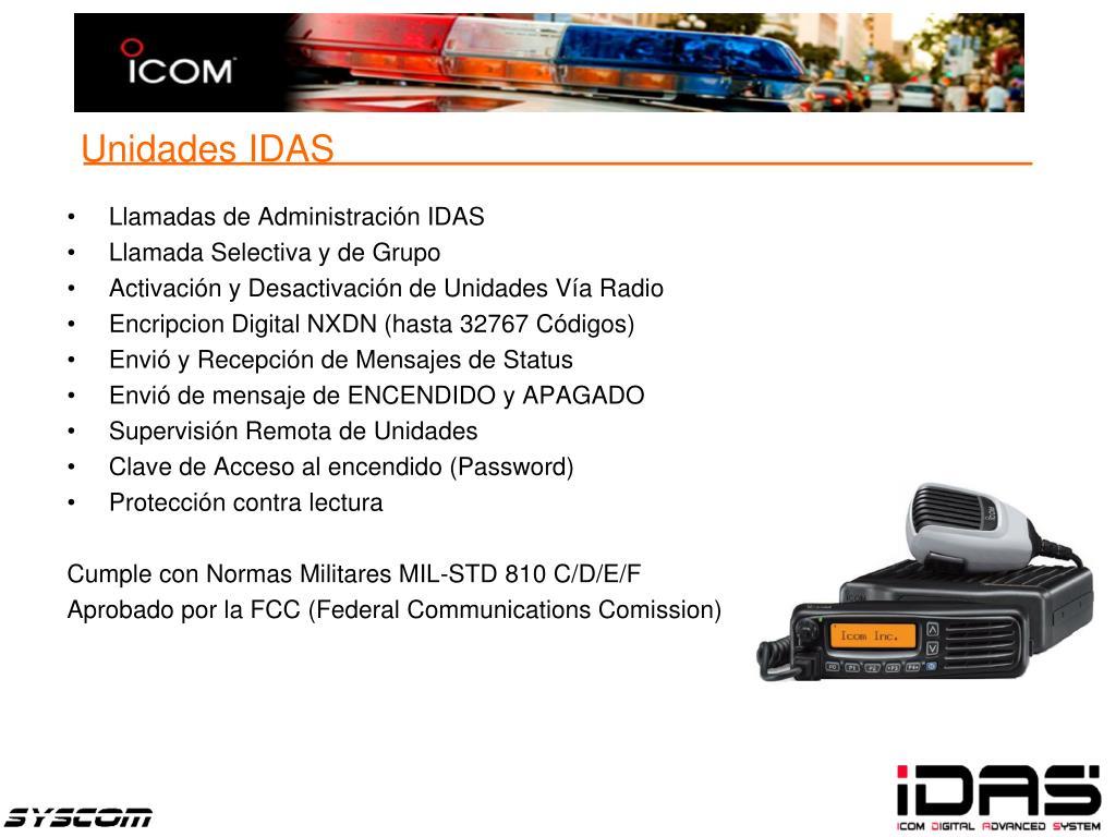 Llamadas de Administración IDAS