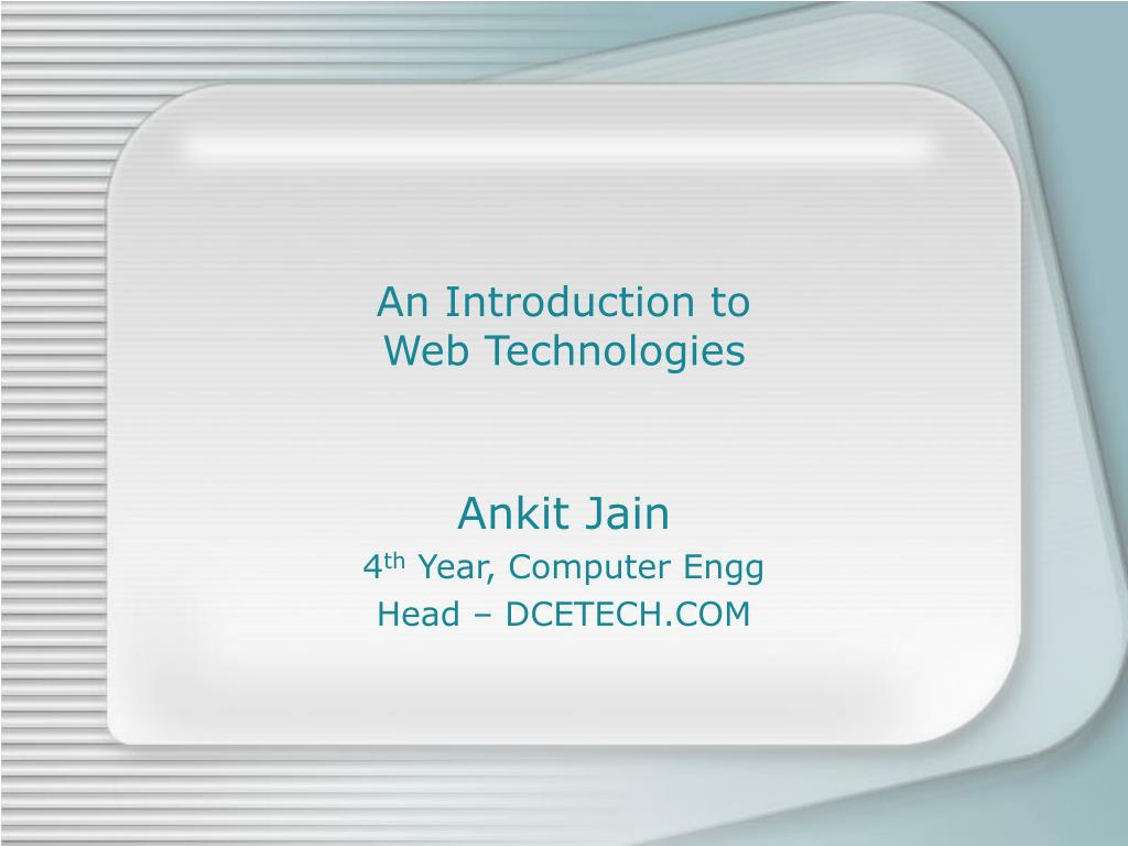an introduction to web technologies l.
