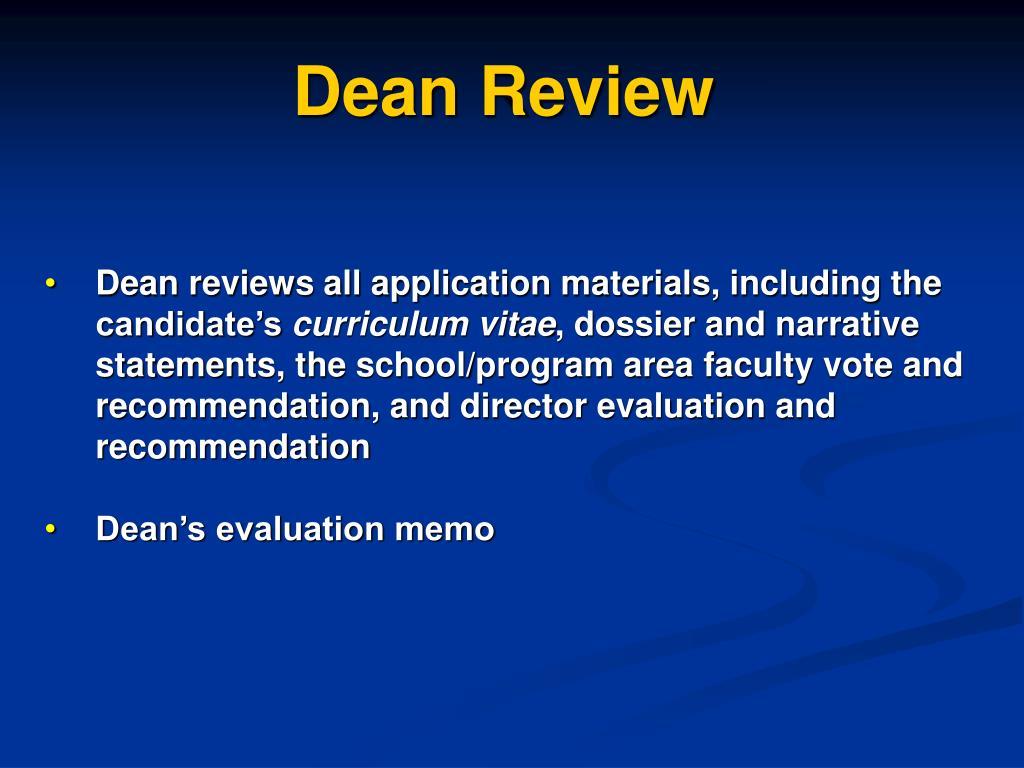 Dean Review