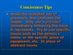 conciseness tips