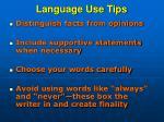 language use tips