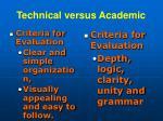 technical versus academic11