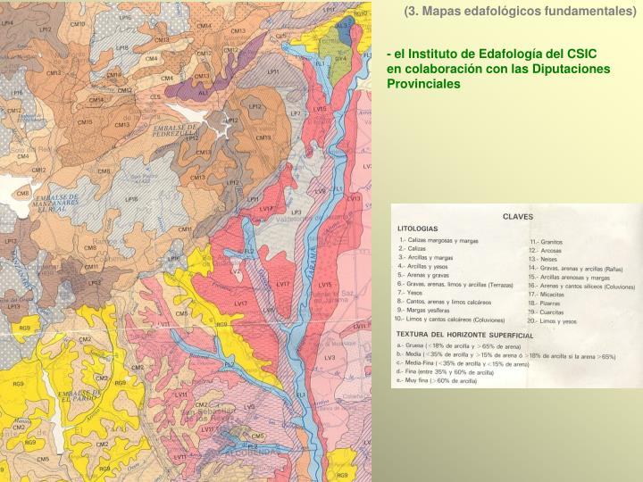 (3. Mapas edafológicos fundamentales)