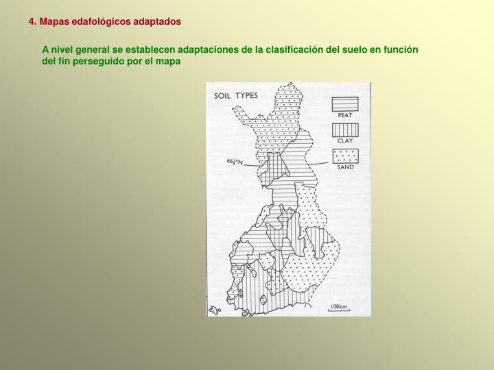 4. Mapas edafológicos adaptados