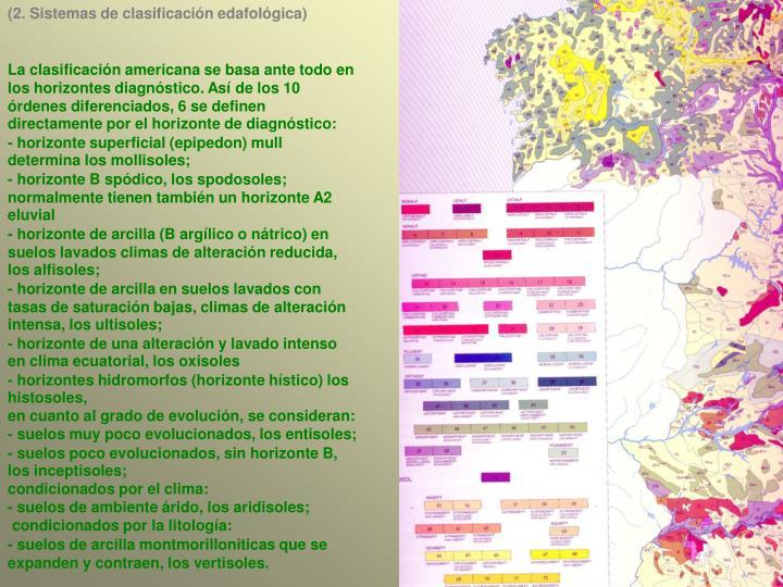 (2. Sistemas de clasificación edafológica)