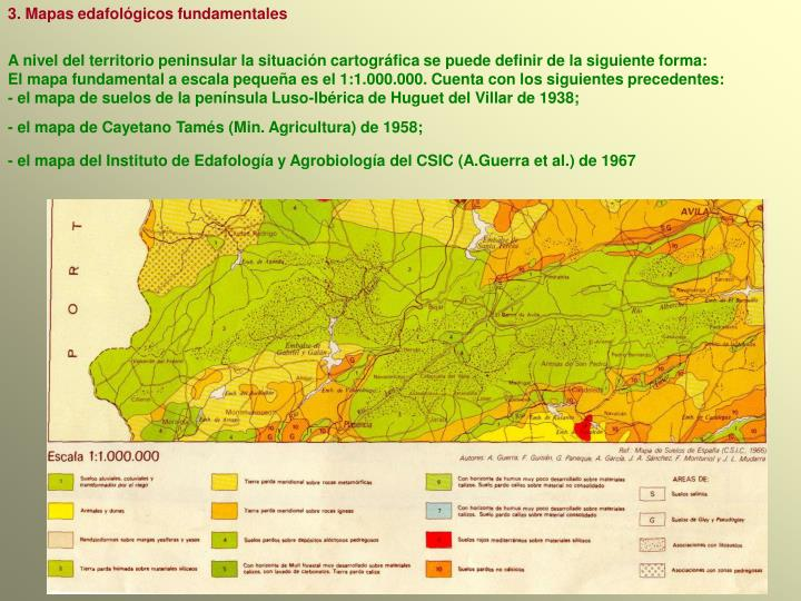 3. Mapas edafológicos fundamentales