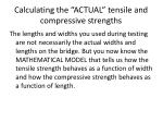 calculating the actual tensile and compressive strengths