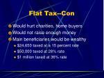 flat tax con