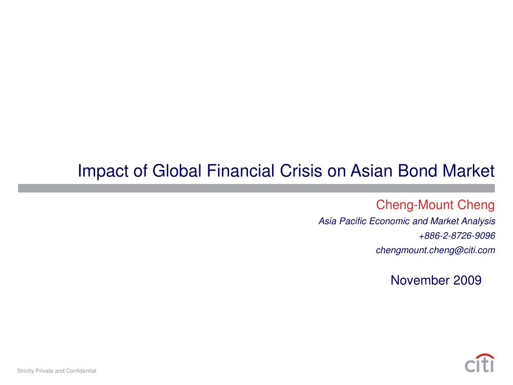 impact of global financial crisis on asian bond market