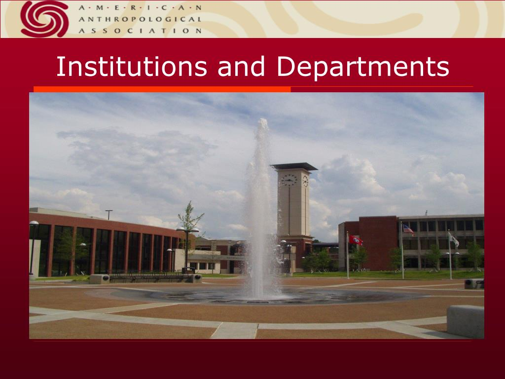 Institutions and Departments