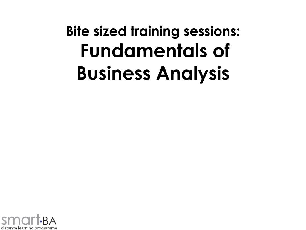 Bite sized training sessions: