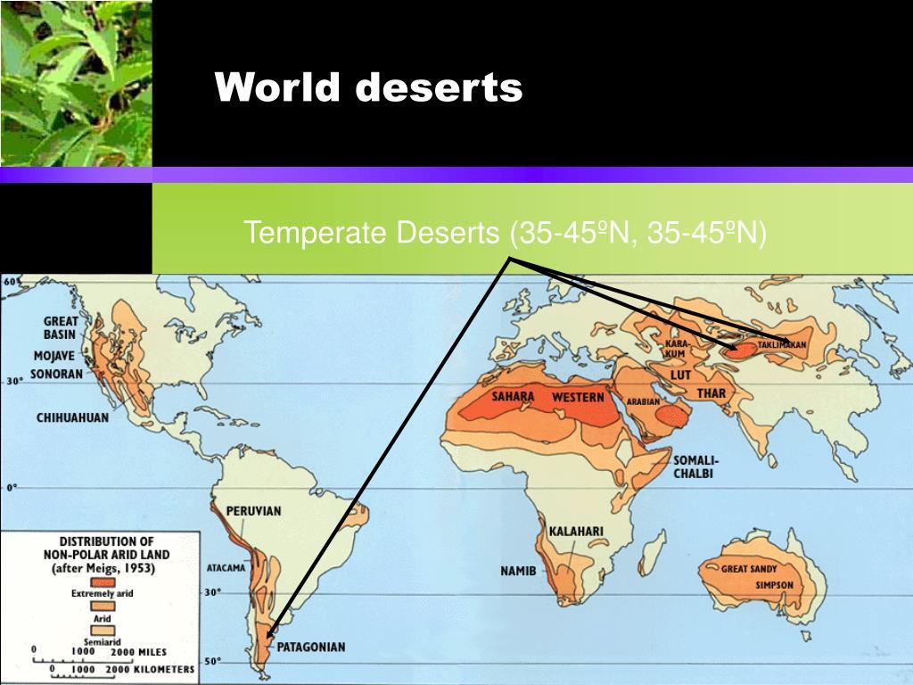 World deserts