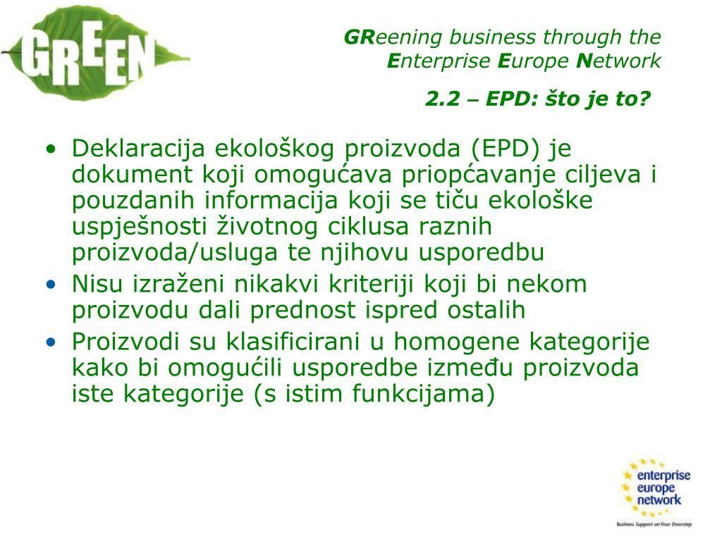Deklaracija ekološkog proizvoda