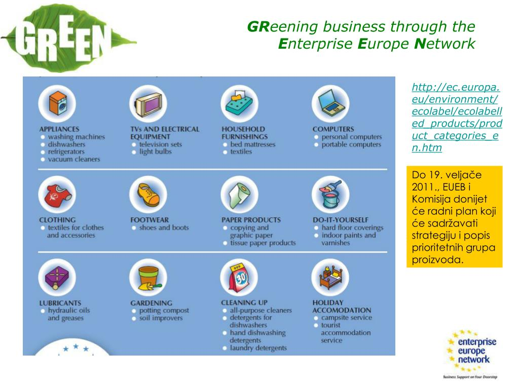 http://ec.europa.eu/environment/ecolabel/ecolabelled_products/product_categories_en.htm