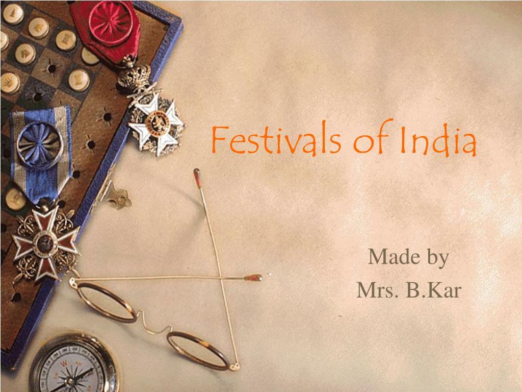 festivals of india l.