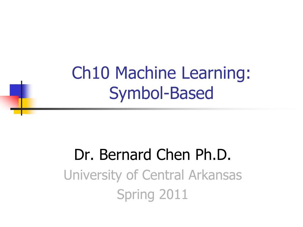 ch10 machine learning symbol based
