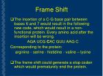 frame shift35
