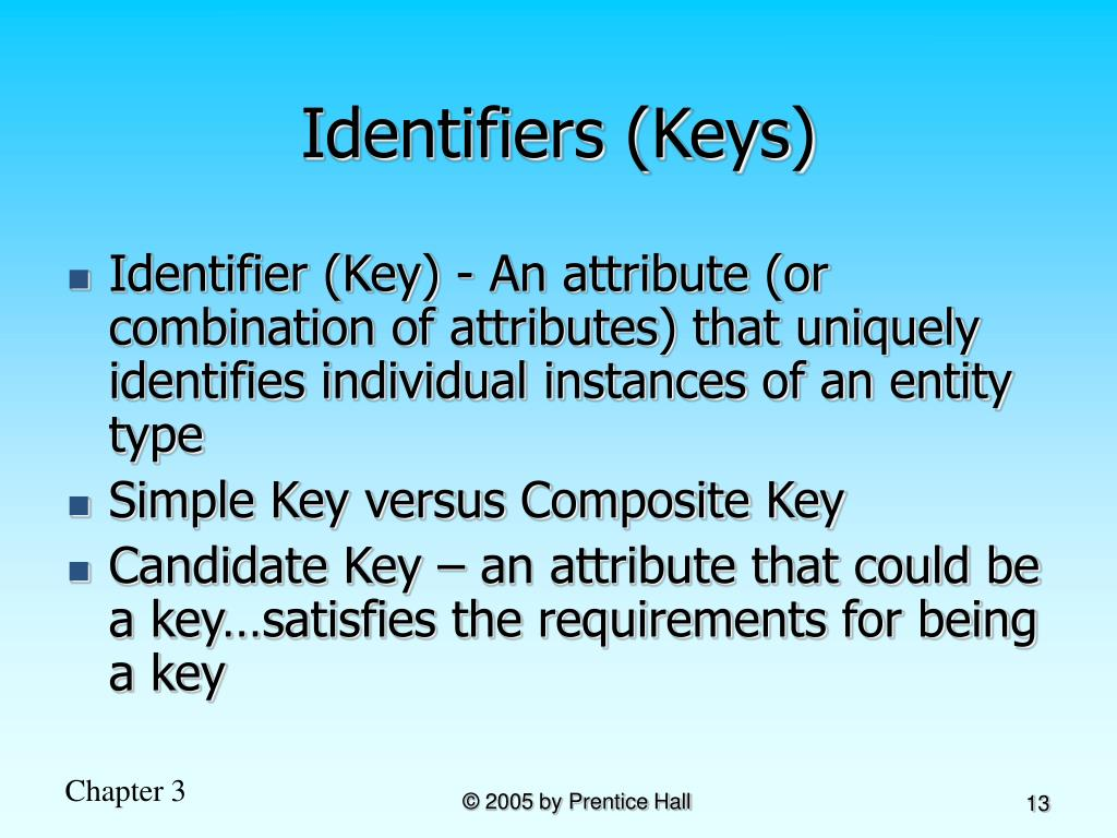 Identifiers (Keys)