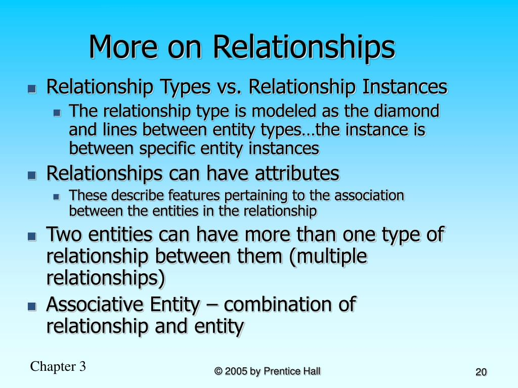 More on Relationships
