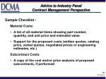 advice to industry panel contract management perspective10