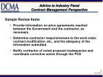advice to industry panel contract management perspective6