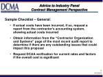 advice to industry panel contract management perspective7