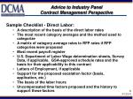 advice to industry panel contract management perspective8