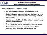 advice to industry panel contract management perspective9