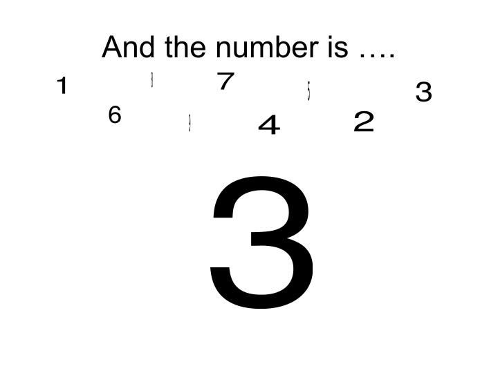 And the number is
