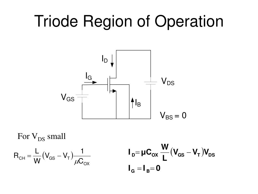 Triode Region of Operation