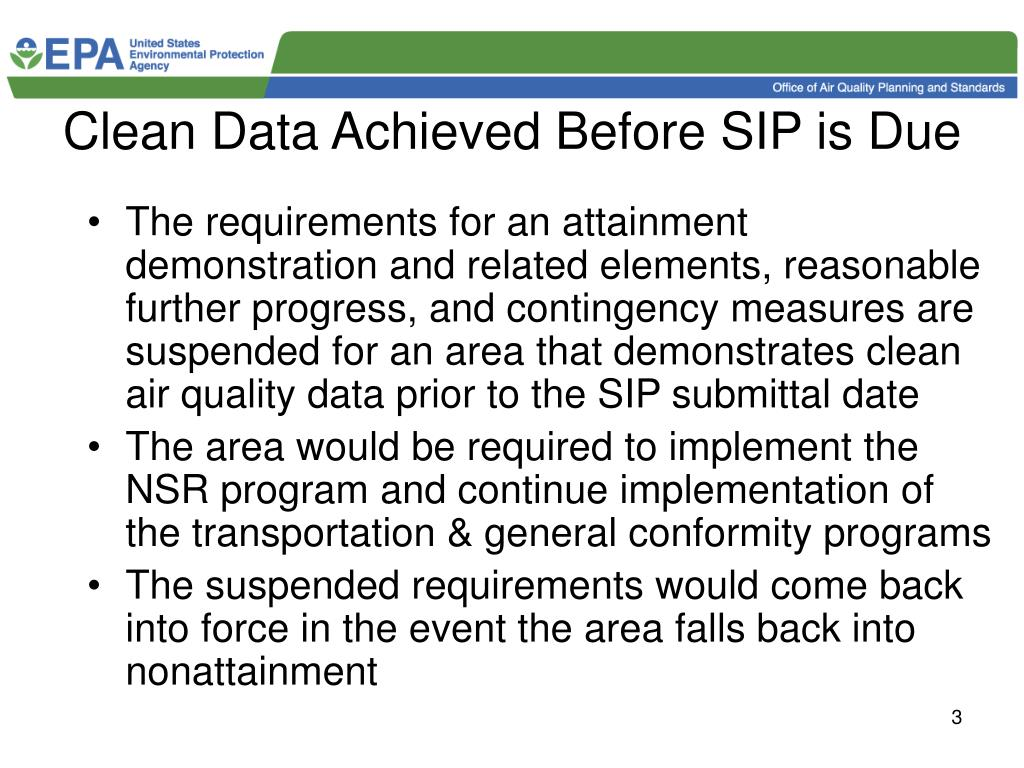 Clean Data Achieved Before SIP is Due
