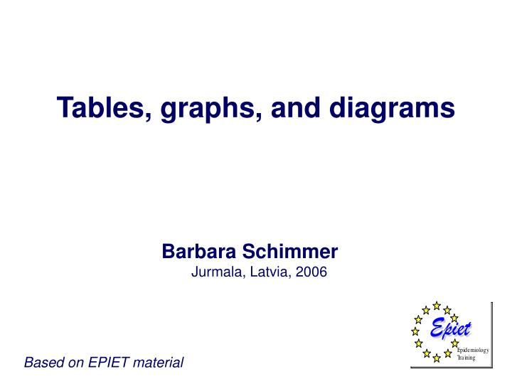 tables graphs and diagrams n.
