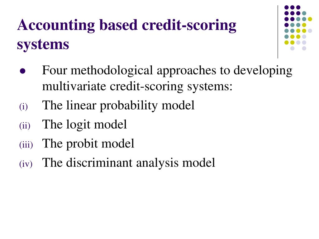 Accounting based credit-scoring systems