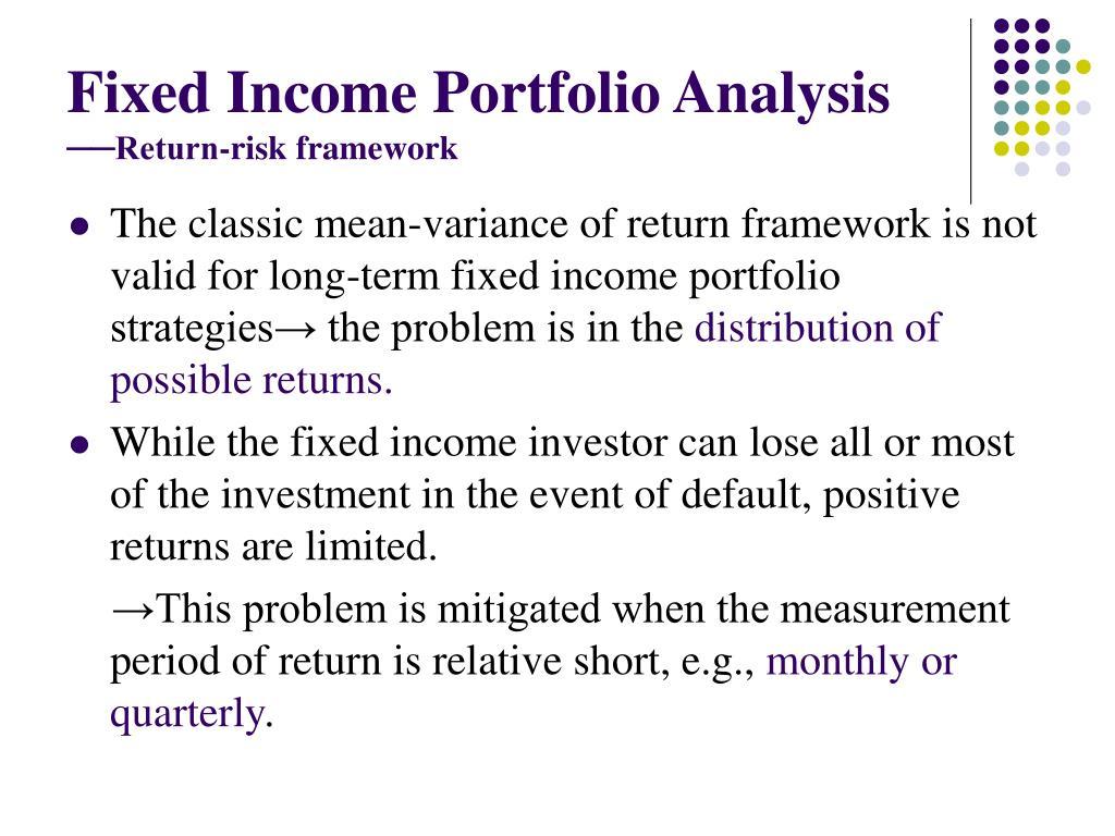 Fixed Income Portfolio Analysis