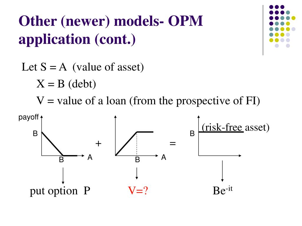 Other (newer) models- OPM application (cont.)