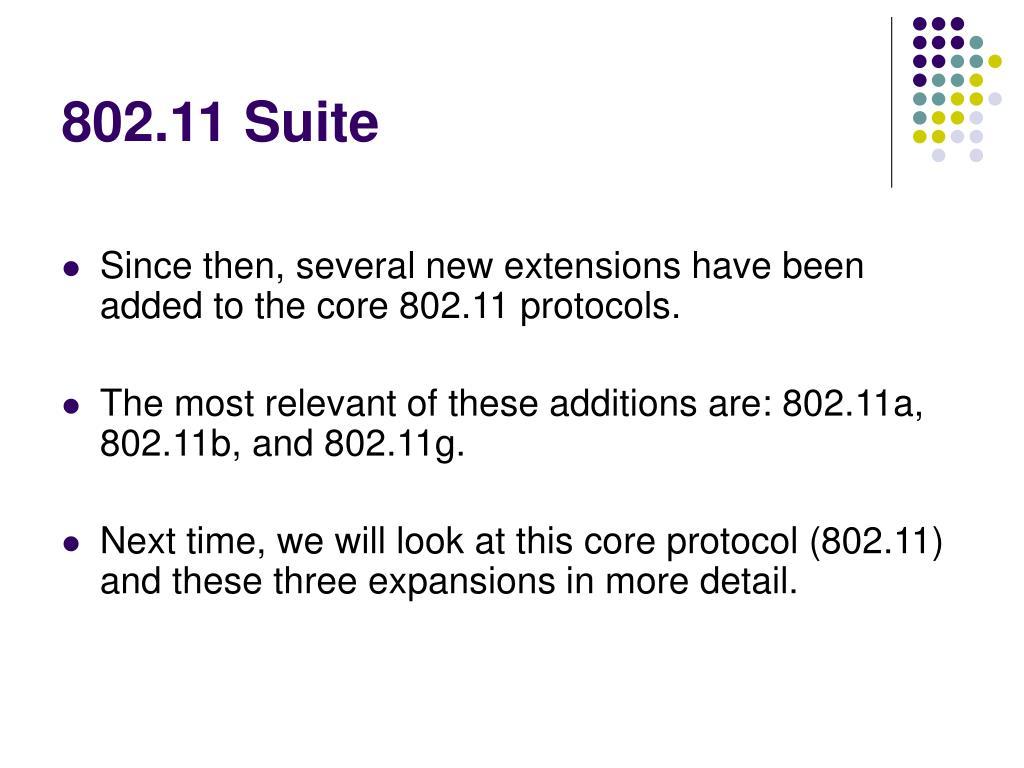 802.11 Suite