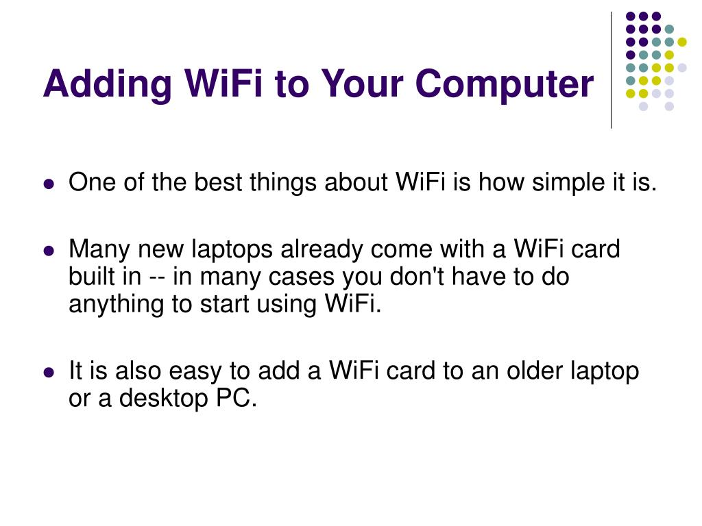 Adding WiFi to Your Computer