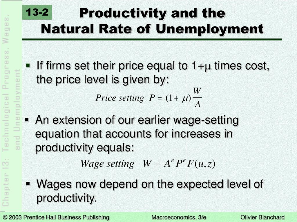 Productivity and the