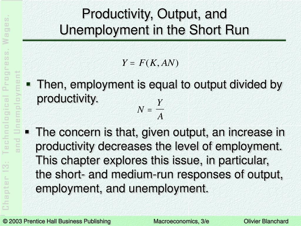 Productivity, Output, and