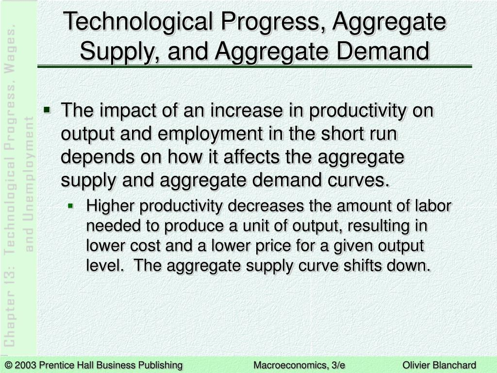 Technological Progress, Aggregate Supply, and Aggregate Demand