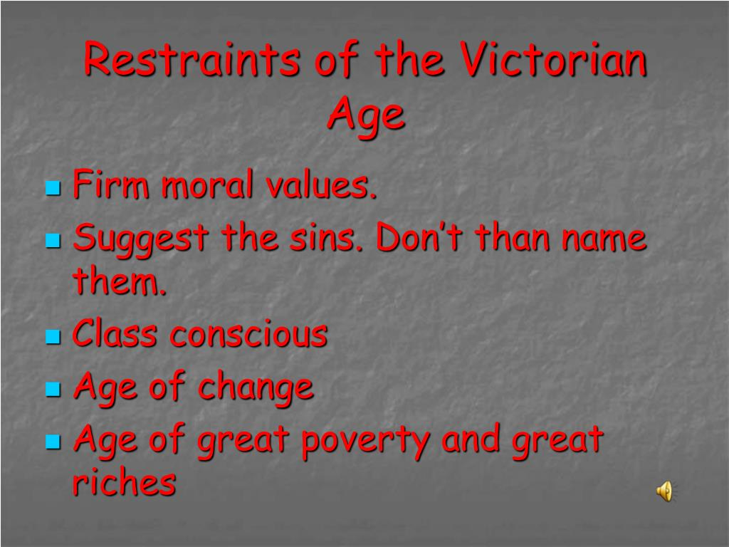 Restraints of the Victorian Age