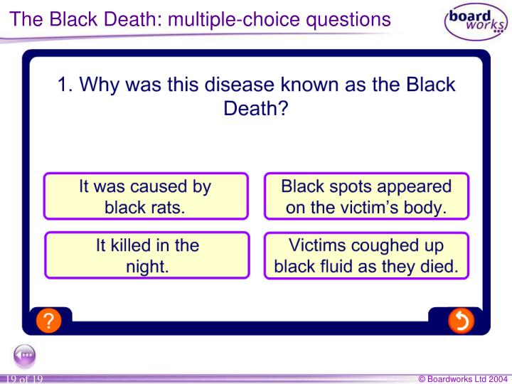 The Black Death: multiple-choice questions