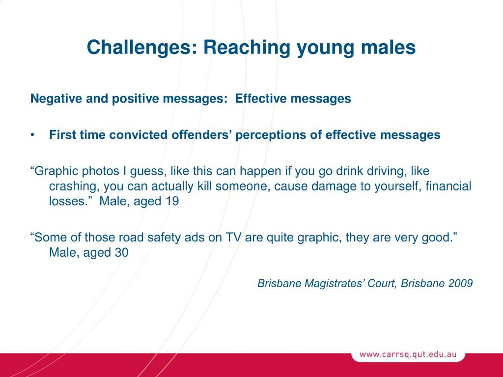 Challenges: Reaching young males