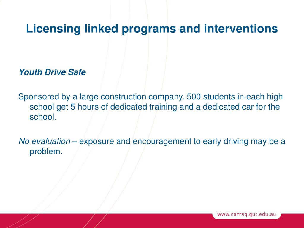 Licensing linked programs and interventions