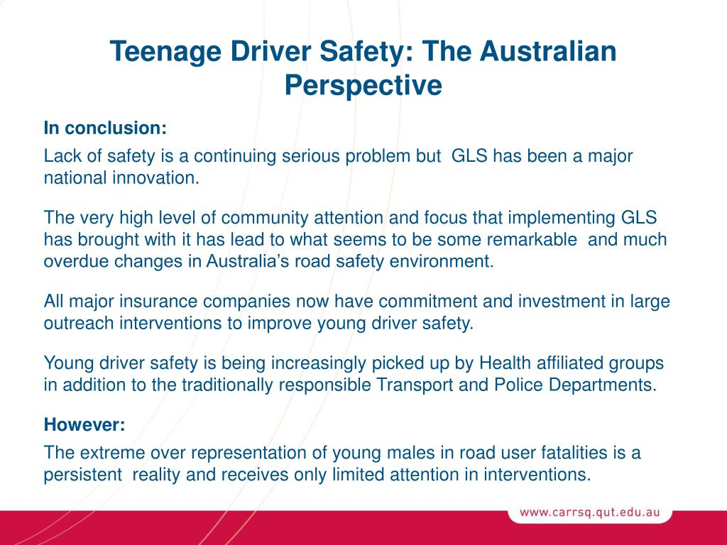 Teenage Driver Safety: The Australian Perspective