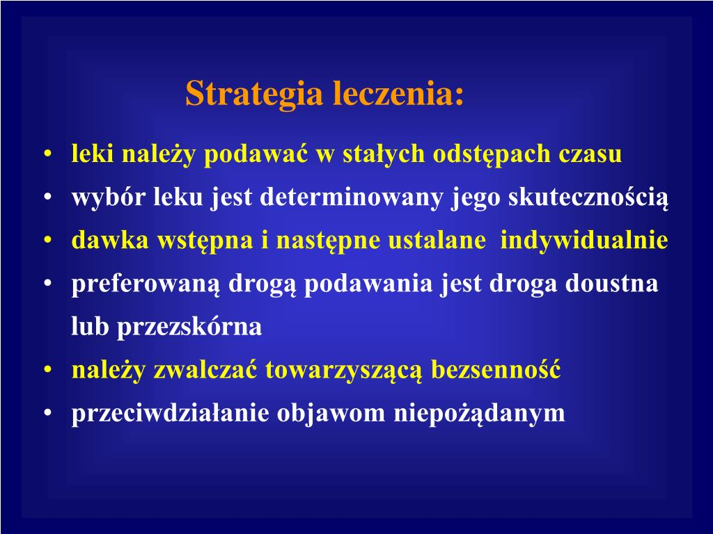 Strategia leczenia: