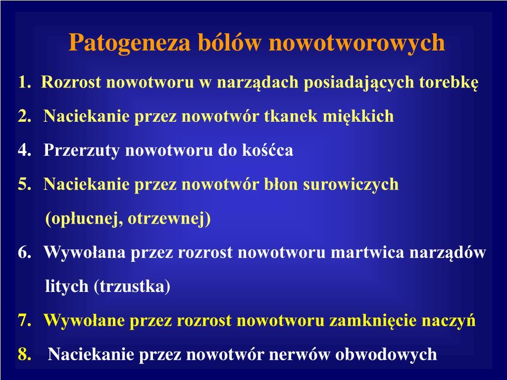 Patogeneza bólów nowotworowych